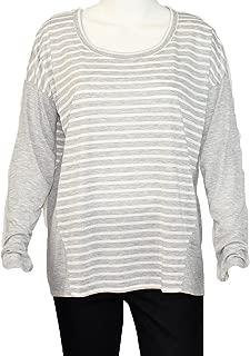 Ya Los Angeles Long Sleeve Striped Knit Gray/White