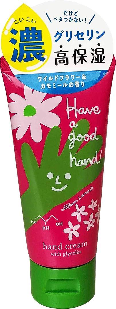ナインへドロー嫌なハヴァグッドハンド モイストハンドクリーム ワイルドフラワー&カモミールの香り