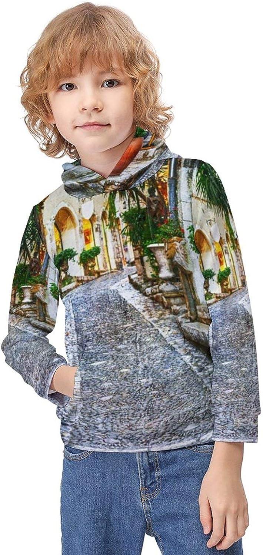 Cats Pattern Boys Girl's Fit Hooded Sweatshirt Children's Full Sleeve Hoody Thin Lightweight Pullover