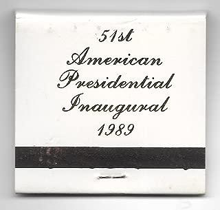 1989 George Bush-Dan Quayle Presidential Inauguration Matchbook
