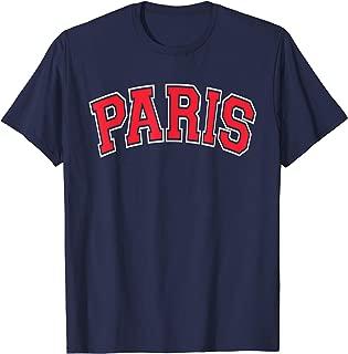 Paris Varsity Style Red Text T-Shirt