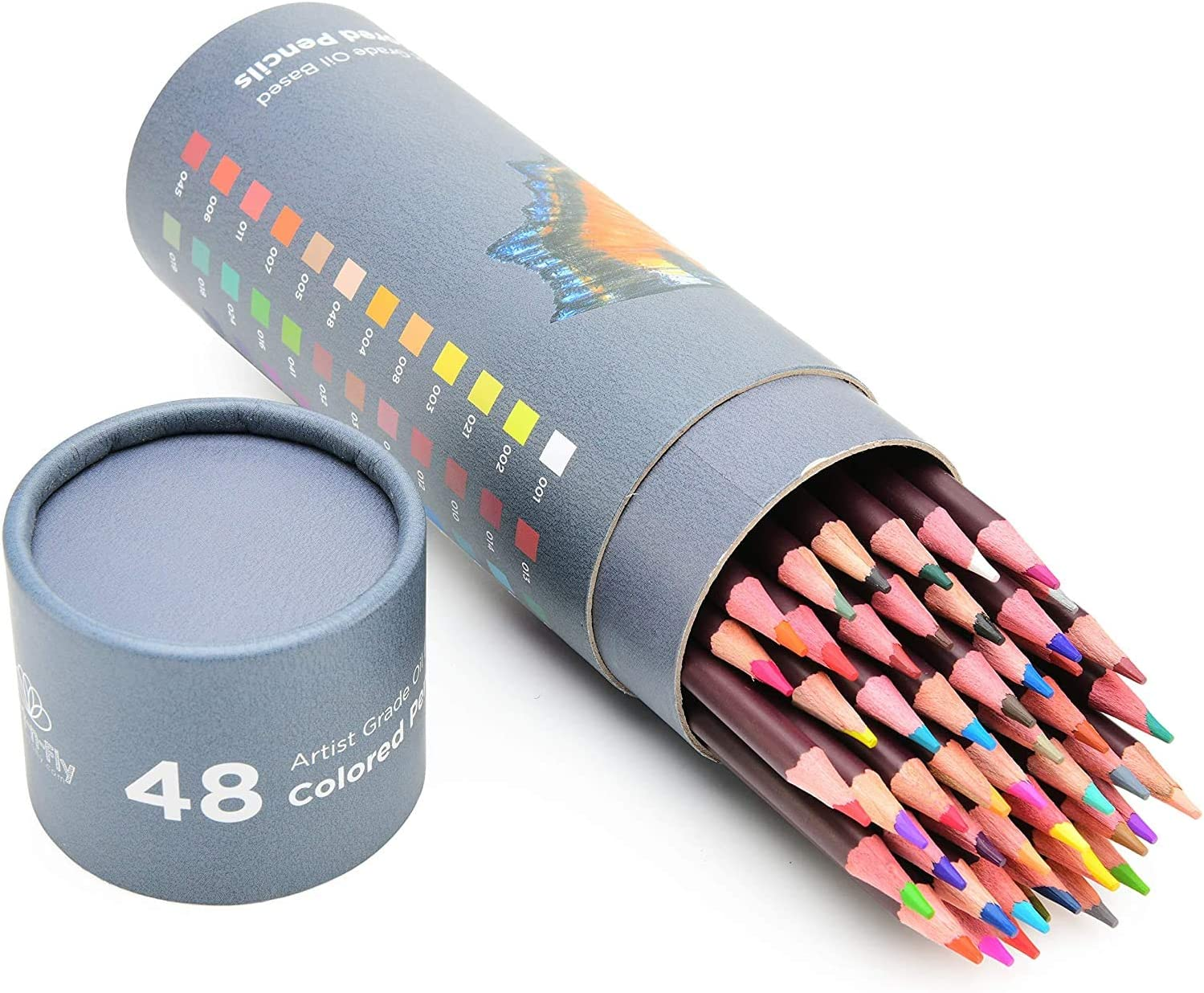 48 Professional Oil Based Kansas Online limited product City Mall Colored S Pencils Artist for Including