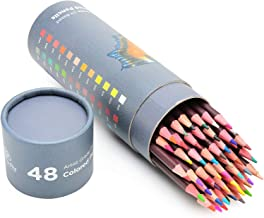 48 Professional Grade Oil Based Coloured Pencils For Artist Including Skin tone Pencils For Colouring Drawing And Sketching