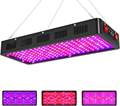 Sunnewgrow 2000w LED Grow Light for Indoor Plants, Triple-Chips & Dual Switch Full Spectrum LED Plant Growing Light Fixtures for Professional Greenhouse Grower. (Daisy Chained Function) (2000 watt)