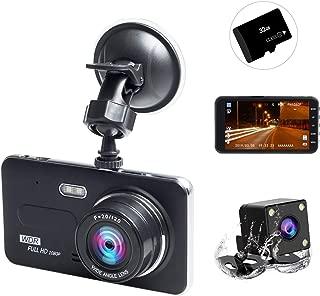 ドライブレコーダー 前後カメラ 2019進化版 32GB SDカード付き 1080PフルHD 1800万画素 LEDライト付き 4インチ 170°広視野角 SONYセンサー/レンズ 常時録画 G-sensor( WDR)
