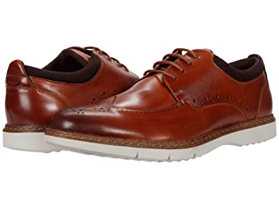 Stacy Adams Synergy Wing Tip Oxford (Cognac) Men