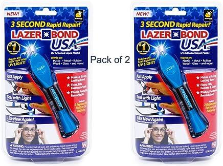 Lazer Bond - Liquid Resin Seals in Only 3 Sec (2 Packs) As Seen