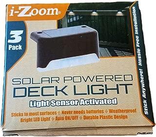 I-Zoom Solar Powered Deck Lights, 3-Pack, Light Sensor Activated