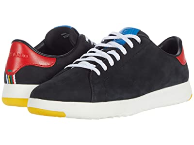 Cole Haan GrandPro Tennis Sneaker (Black Nubuck/Flame/Blue) Men