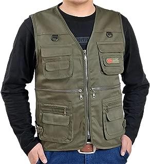 DigerLa Men's Leisure Multiple Pocket Outdoor Military Travel Fishing Vest