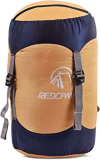 REDCAMP Nylon Compression Stuff Sack, 10L/17L/27L/40L Lightweight Sleeping Bag Compression Sack Great for Backpacking, Hiking and Camping,Blue/Yellow/Army Green