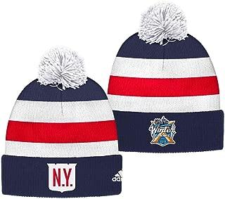 adidas New York Rangers 2018 Winter Classic Cuffed Pom Knit Players Hat