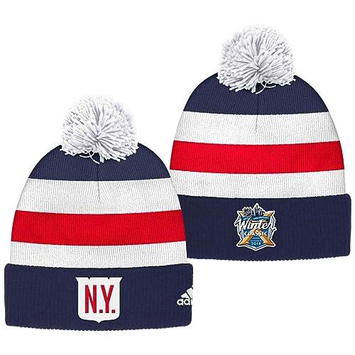 f7ec5f613 New York Rangers 2018 Winter Classic Cuffed Pom Knit Players Adidas Hat
