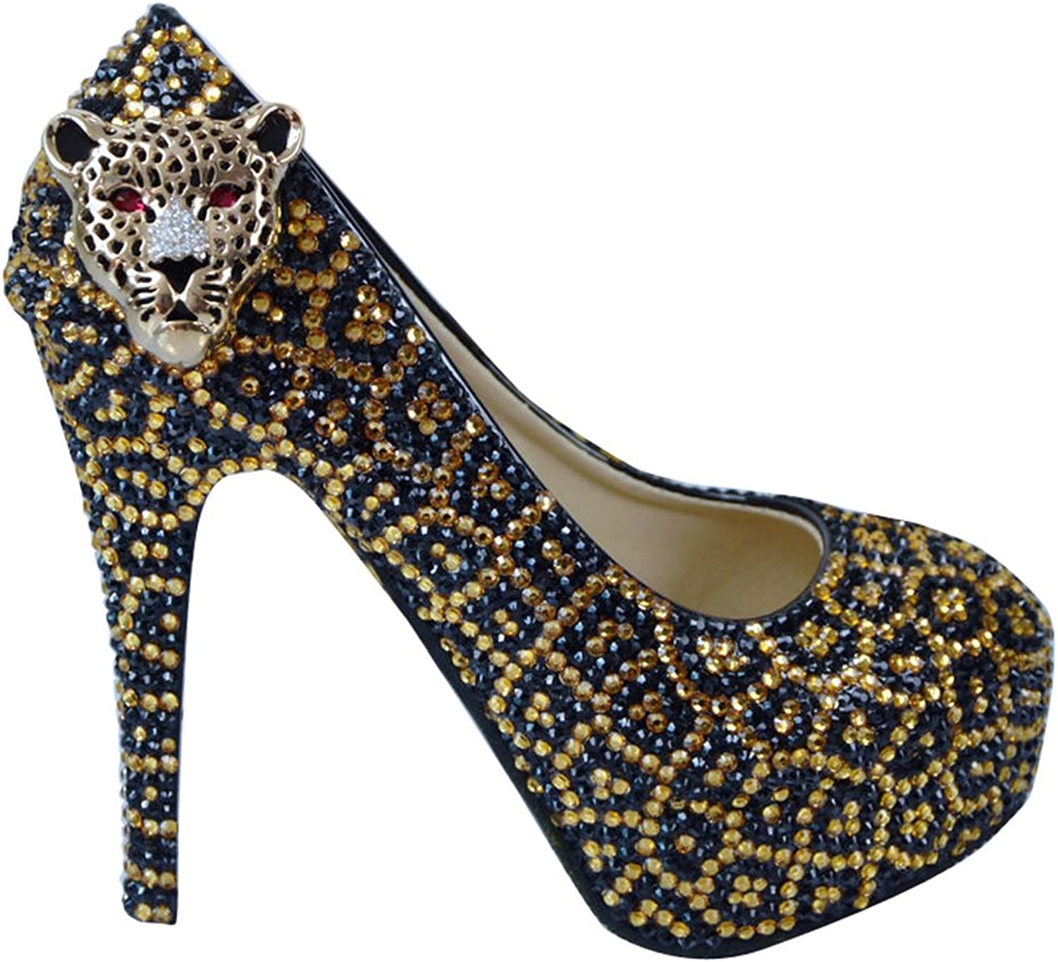 TDA Women's Sexy Leopard Party Stiletto Pumps