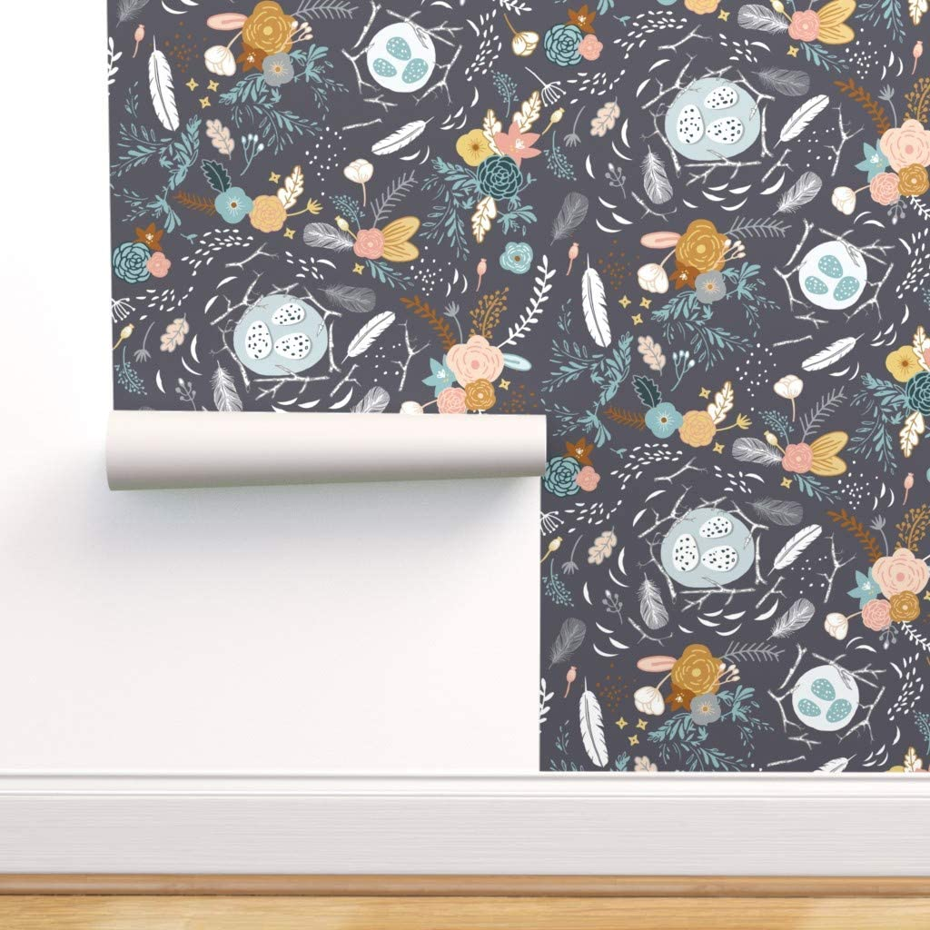 Removable Attention brand Water-Activated Wallpaper - Feathers Baby Feath Rustic Beauty products
