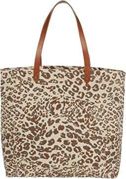 Printed Canvas Transport Tote