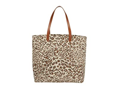 Madewell Printed Canvas Transport Tote (Ashen Sand) Handbags