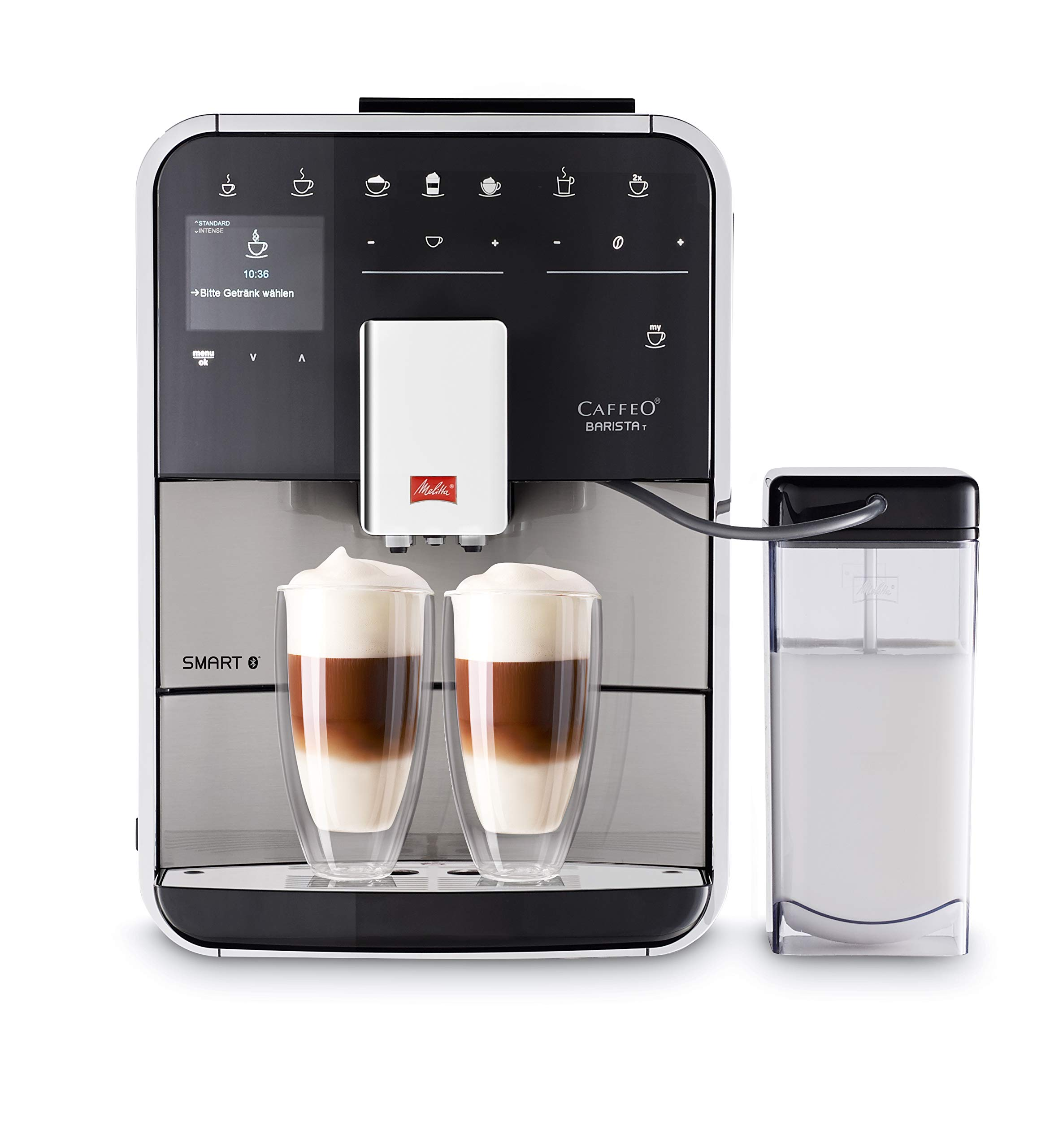 Melitta Barista T Smart F840-100, Cafetera Automática con Molinillo Silencioso, Bluetooth, Pantalla Táctil, Personalizable, 18 Recetas, Acero Inoxidable: Amazon.es: Hogar