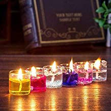 Agarwal Trading Corporation Colorful Romantic Glass Jelly Gel Candles Decor Gel Wax Smokeless Decorated Mini Candles for H...