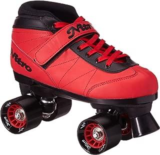 Epic Skates 2016 Epic Nitro Turbo 1 Indoor/Outdoor Quad Speed Roller Skates,  Red