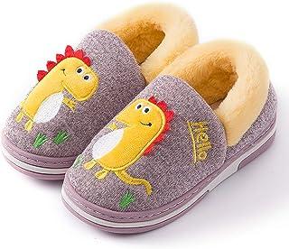 Zapatillas de Estar por Casa para Niños Zapatos Invierno Niñas Pantuflas Dinosaurio Bebé