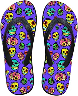 FOR U DESIGNS Casual Stylish Colorful Galaxy Cat Print Summer Flip Flop Slippers for Men Women