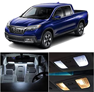 SCITOO 14Pcs White Interior LED Light Package Kit Replacement Bulbs Fits for Honda Ridgeline 2017 UP