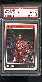 Scottie Pippen PSA GRADED 8 (Basketball Card) 1988-89 Fleer - [Base] #20