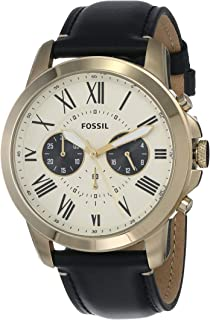 Fossil Grant Watch for Men - Analog, Leather Strap - FS5272