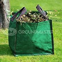 Groundmaster - Borse per rifiuti da giardino da 120 l, grandi sacchi da immondizia con manici resistenti