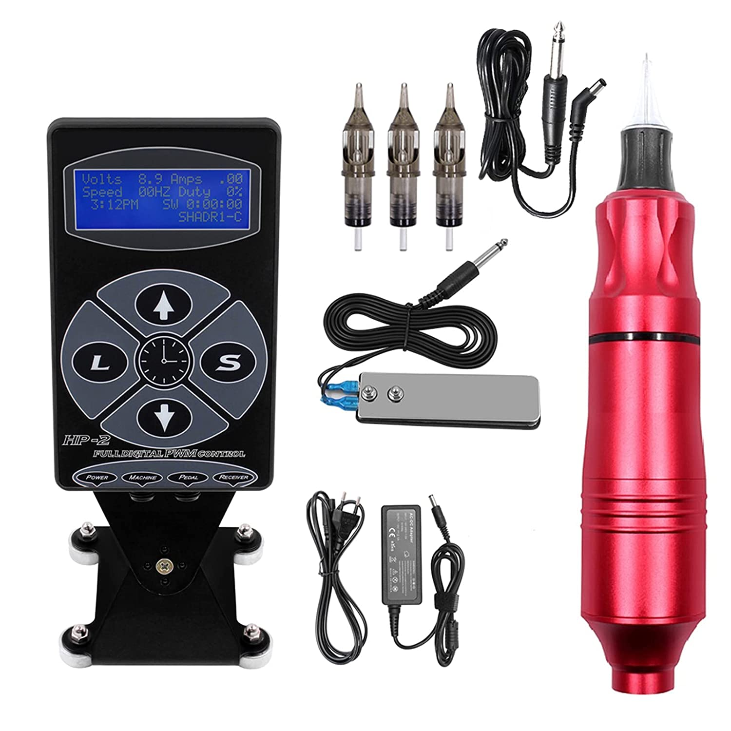 Tattoo Machine Kit Complete Rotary Eyebrow National products Columbus Mall Pen Cartridge