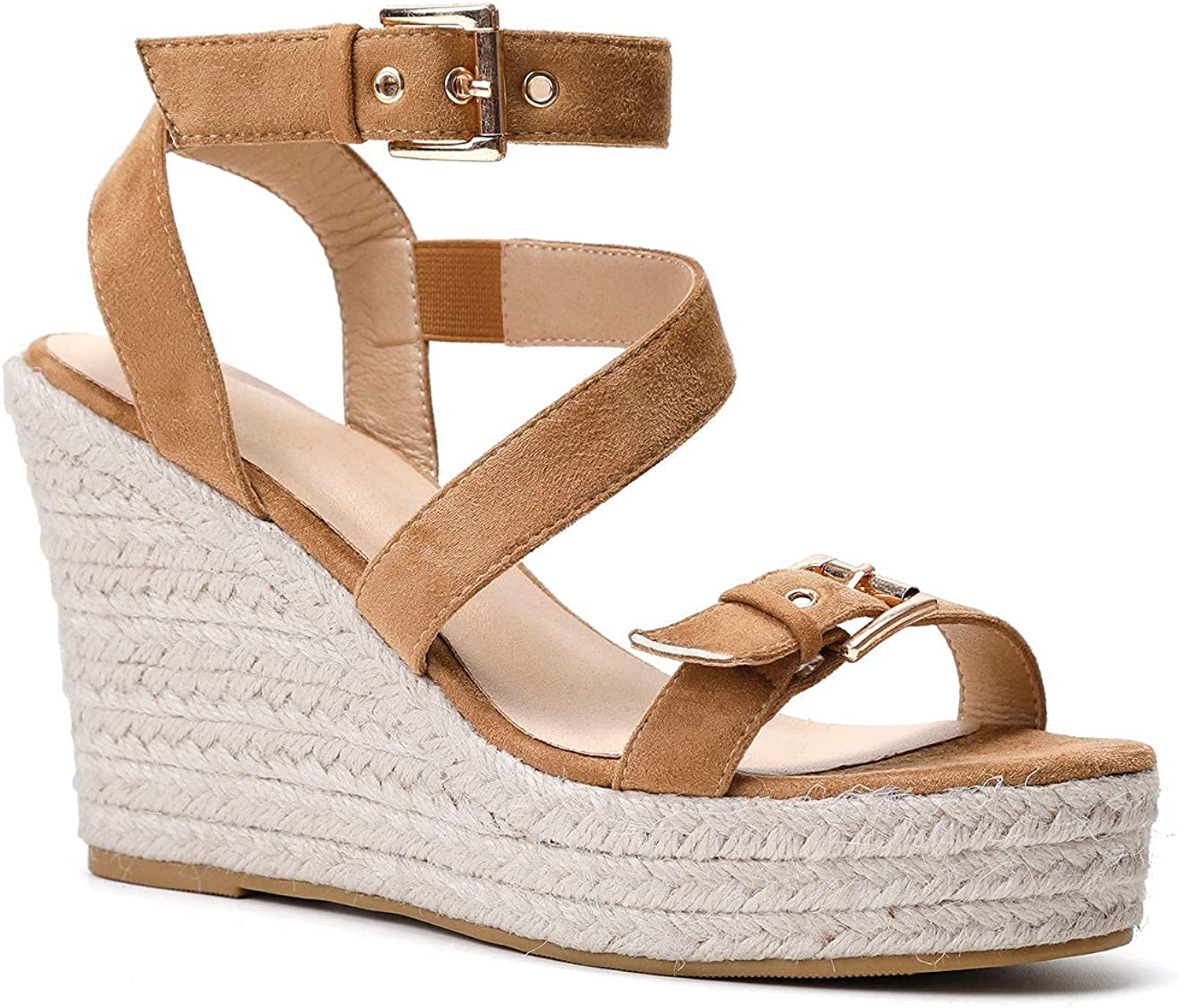 Women'S At the price of surprise Wedge Sandals Waterproof lowest price Strap Platform Ankle Adjustable