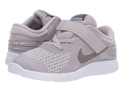 Nike Kids FlyEase Revolution 4 (Infant/Toddler) (Atmosphere Grey/Metallic Pewter/Thunder Grey) Kids Shoes
