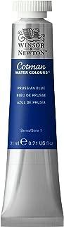Winsor & Newton 0308538, Prussian Blue Cotman Water Colour Paint, 21ml tube, 21-ml