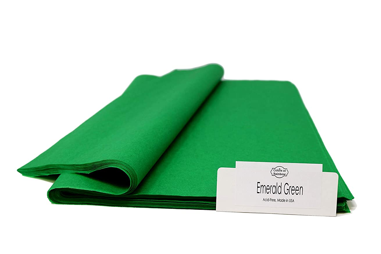 "Emerald Green - 96 Sheets - Gift Wrapping Tissue Paper 15"" x 20"" - Made in United States by Colors of Rainbow?"