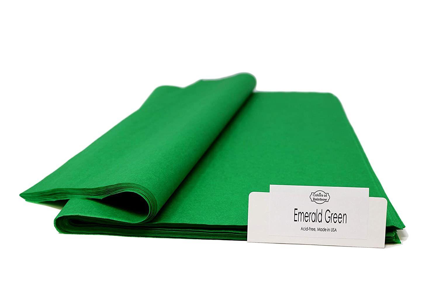 """Emerald Green - 96 Sheets - Gift Wrapping Tissue Paper 15"""" x 20"""" - Made in United States by Colors of Rainbow?"""