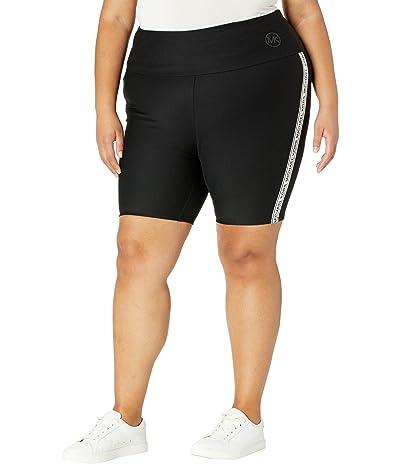 MICHAEL Michael Kors Plus Size Logo Tape Biker Shorts
