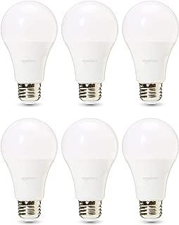 AmazonBasics Commercial Grade LED Light Bulb   100-Watt Equivale, A21, Soft White, Dimmable, 6-Pack