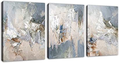Abstract Canvas Wall Art Modern Abstract Painting Prints Blue Grey Canvas Pictures Artwork Contemporary Wall Art for Bedro...