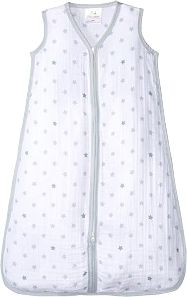 Aden By Aden Anais Classic Sleeping Bag 100 Cotton Muslin Wearable Baby Blanket Dove Stars Large 12 18 Months
