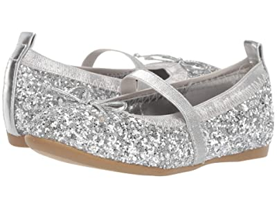 Nina Kids Esther-T (Toddler/Little Kid) (Silver Glitter) Girls Shoes