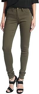 TheMogan Women's Basic Army Olive Green 5 Pocket Stretch Denim Skinny Jeans