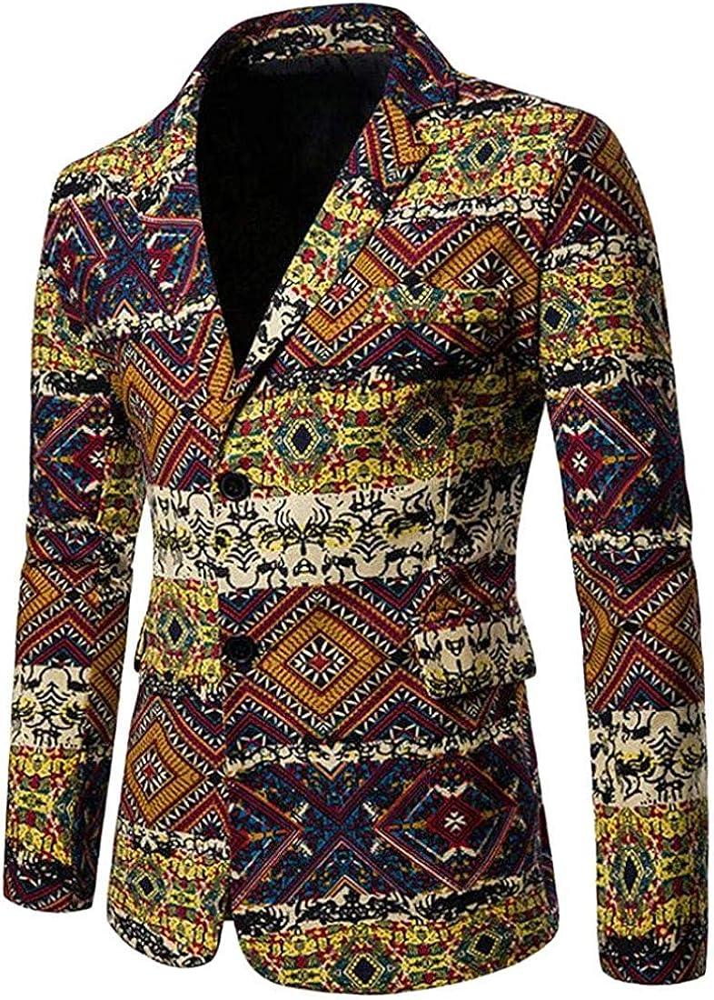 Men Fashion Casual 2 Button Direct stock discount Blazer Fit Suit Vintage Slim Baltimore Mall Jacket