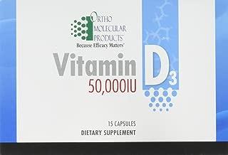 Ortho Molecular - Vitamin D3 50,000 IU - 15 Capsule Blister Pack
