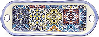 AlcoaArte Hand Painted Traditional Portuguese Ceramic Decorative Platter (Tile)
