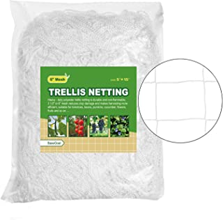 BaseGoal All-Weather Trellis Netting Garden Vine Plant Growing Flexible String Net (6