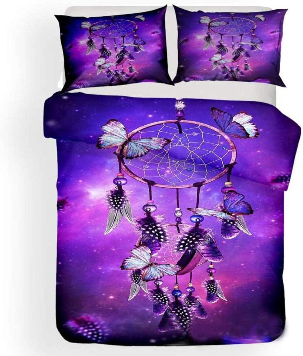 Popular shop is the lowest price challenge JCYUEDRN Duvet Cover Set New product! New type Child Purple Catche Dream Starry Galaxy