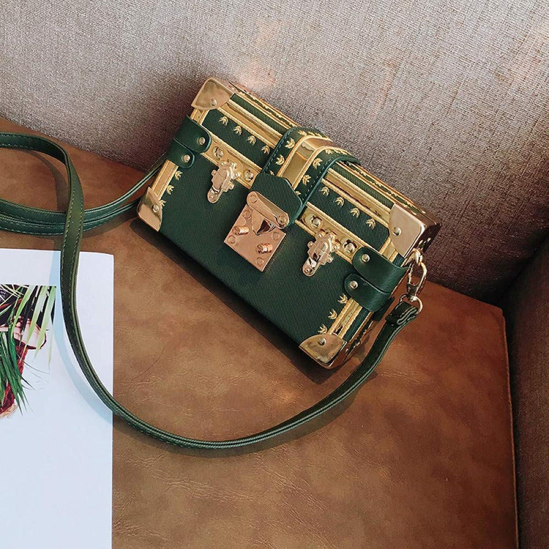 JQSM Fashion Box Women Bag Rivets Fashion Women Messenger Bags Small Square Girls Shoulder Bags Female Shoulder Packages