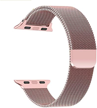 Priefy Watch Strap Magnetic Closure Compatible with Watch Series 4 {40mm Rose Gold}