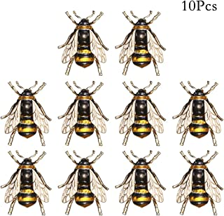 10Pcs Bumble Bee Brooch Pin, Fashion Honeybee Animal Insect broach Pin, Alloy lapel Pins Vintage Clips Jewelry Corsage,Insect Themed Jewelry Clothes Collar Dress Scarf Shirt Suit Vest Decoration